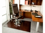 Bamboo Roll-Up Office Chair Mat in Dark Cherry - AMB24015W