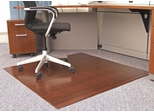 Bamboo Roll-Up Office Chair Mat in Dark Cherry - AMB24035