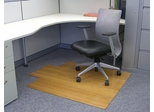 Bamboo Roll-Up Office Chair Mat in Natural - AMB24005