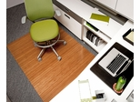 Bamboo Roll-Up Office Chair Mat in Natural - AMB24014W