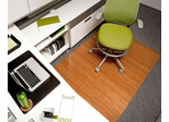 Bamboo Roll-Up Office Chair Mat in Natural - AMB24022W