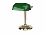 Bankers Lamp - Green Shade - LEDL557BR