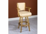 Bar Stool - Swivel Oak Bar Stool - Hillsdale Furniture - 62639A