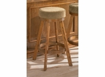 Bar Stool with Cushion Seat in Oak - Coaster