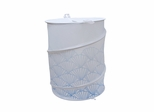 Bathroom Collapse Hamper with Blue Shell Designs - 12132