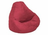 Bean Bag Chair Adult Extra Large in Lipstick Soft Suede LUXE - 30-1051-461