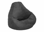 Bean Bag Chair Adult Extra Large in Onyx Soft Suede LUXE - 30-1051-467