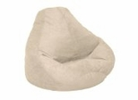 Bean Bag Chair Adult in Fawn Soft Suede LUXE - 30-1041-1001