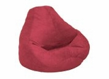 Bean Bag Chair Adult in Lipstick Soft Suede LUXE - 30-1041-461