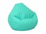 Bean Bag Chair Kids Large in Aqua Vinyl - Lifestyle - 30-1021-329