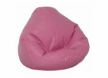 Bean Bag Chair Kids Large in Raspberry Vinyl - Lifestyle - 30-1021-330