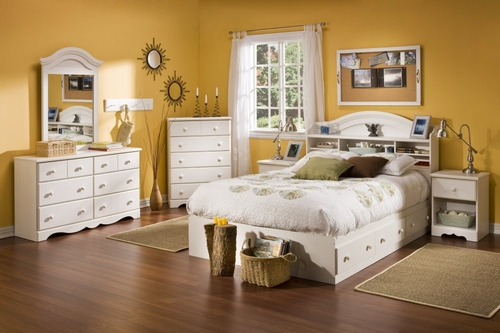 Bedroom Furniture Collection in Vanilla Cream - South Shore Furniture - 3210-BSET-2