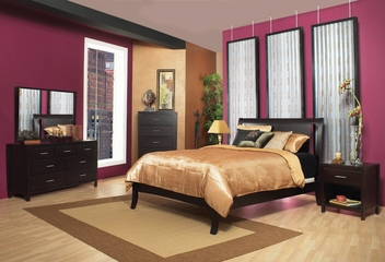 Bedroom Furniture Set 2 - Nevis Espresso - Modus Furniture - NVE-BSET-2