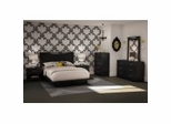 Bedroom Furniture Set 3 in Solid Black - South Shore Furniture - 3107-BSET-133