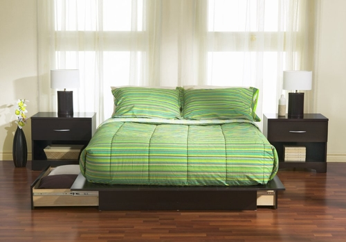 Bedroom Furniture Set in Chocolate - South Shore Furniture - 3159-BSET-3