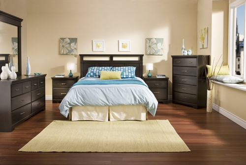 Bedroom Furniture Set in Ebony - South Shore Furniture - 3177-BSET