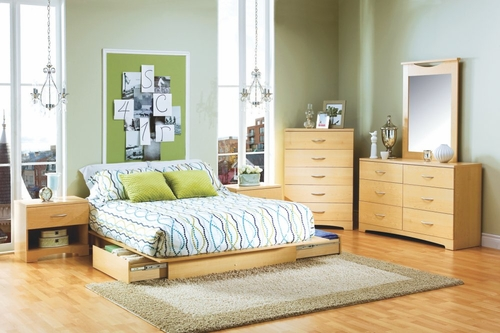 Bedroom Furniture Set in Natural Maple - South Shore Furniture - 3013-BSET-2