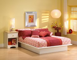 Bedroom Furniture Set in Pure White - South Shore Furniture - 3050-BSET-1