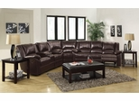 Bekah Sectional Sofa with Cup Holders in Brown - 600060S
