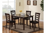 Bentley 5PC Table & Chair Set in Brown Cherry - 150157
