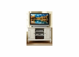 Bermuda Corner TV Stand in Brushed White - Home Styles - HS-5543-07