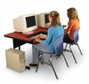 """Bi-Level Computer Table 30"""" x 72"""" with 2 Keyboard Trays - Correll Office Furniture - BL3072"""