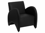 Big and Tall Patrician Black Leather Reception Chair - ZB-PATRICIAN-BLACK-GG