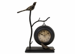 Bird and Branch with Hanging Clock - IMAX - 16159