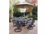 Biscayne 7-Piece Outdoor Dining Set in Black - Home Styles - 5554-335