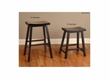 Biscayne Black Backless Saddle Stool - Set of 4 - Largo - LARGO-ST-D1181-2X