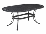Biscayne Oval Outdoor Dining Table in Black - Home Styles - 5554-33