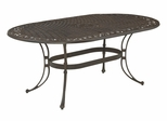 Biscayne Oval Outdoor Dining Table in Rust Brown - Home Styles - 5555-33
