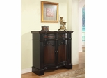 """Black"" and ""Cherry"" Fluted Pilaster 2-Door Cabinet - Powell Furniture - 323-254"