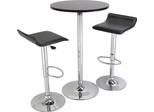 Black and Chrome Pub Table Set - Winsome Trading - 93324