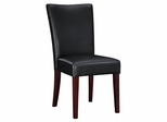 """Black Bonded Leather Parsons Chair, 20-1/2"""" Seat Height - Powell Furniture - 273-833"""
