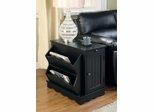 Black Cabinet Table with Magazine Rack - 700411