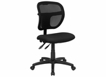 Black Fabric and Mesh Task Chair - WL-A7671SYG-BK-GG