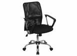Black Mesh Computer Task Chair with Chrome Base - GO-6057-GG