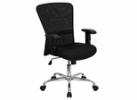 Black Mesh Office Computer Chair with Chrome Base - GO-5307B-GG