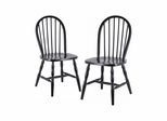 Black Windsor Chairs - Set of 2 - Winsome Trading - 29237