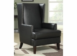 Black Wing Back Accent Chair - 902078