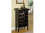 "Black with ""Merlot"" Rub through Wine Cabinet - Powell Furniture - 502-426"