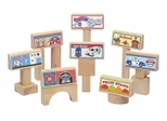 Block Toppers - 8 Pcs in Natural - Guidecraft - G3020