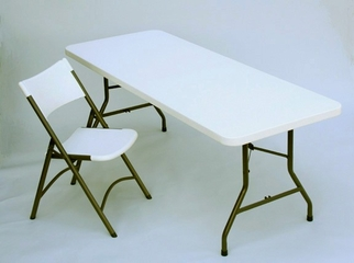 """Blow Molded 30"""" x 96"""" Food Service Table - Correll Furniture - FS3096"""