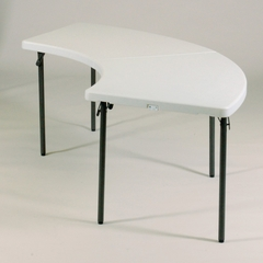 """Blow Molded 30"""" x 96"""" Serpentine Food Service Table - Correll Furniture - FS3096S"""
