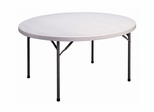 "Blow Molded 60"" Round Food Service Table - Correll Furniture - FS60R"
