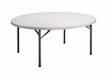 "Blow Molded 71"" Round Food Service Table - Correll Furniture - FS71R"