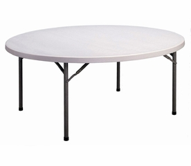 """Blow Molded 71"""" Round Food Service Table - Correll Furniture - FS71R"""