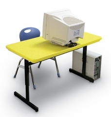 """Blow-Molded Adjustable Height Computer Table 24"""" x 48"""" - Correll Office Furniture -"""