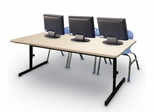 """Blow-Molded Adjustable Height Computer Table 30"""" x 60"""" - Correll Office Furniture -"""